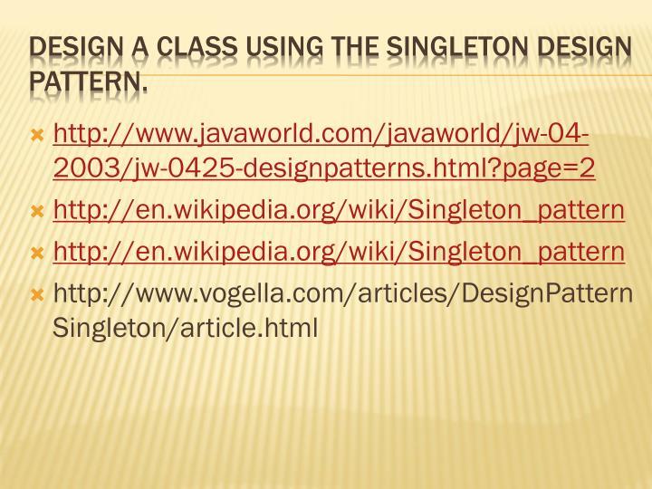 http://www.javaworld.com/javaworld/jw-04-2003/jw-0425-designpatterns.html?page=2