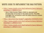 write code to implement the dao pattern