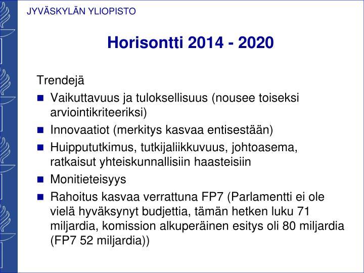 Horisontti 2014 - 2020