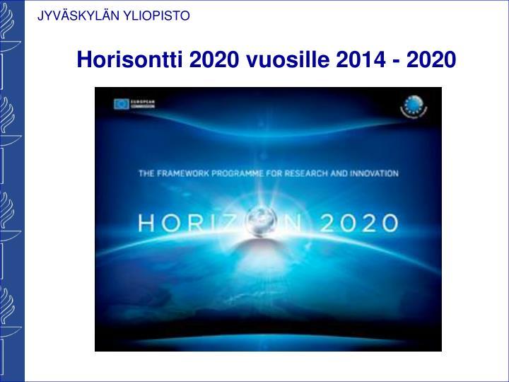 Horisontti 2020 vuosille 2014 - 2020