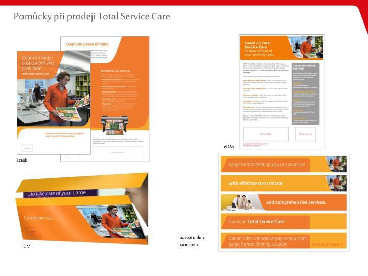 Pomůcky při prodeji Total Service Care