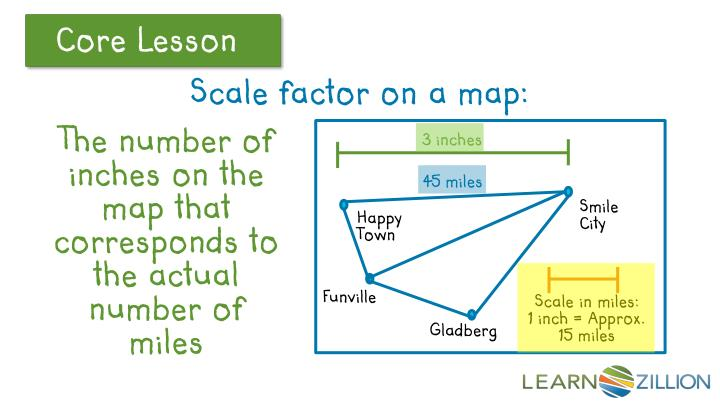 Scale factor on a map: