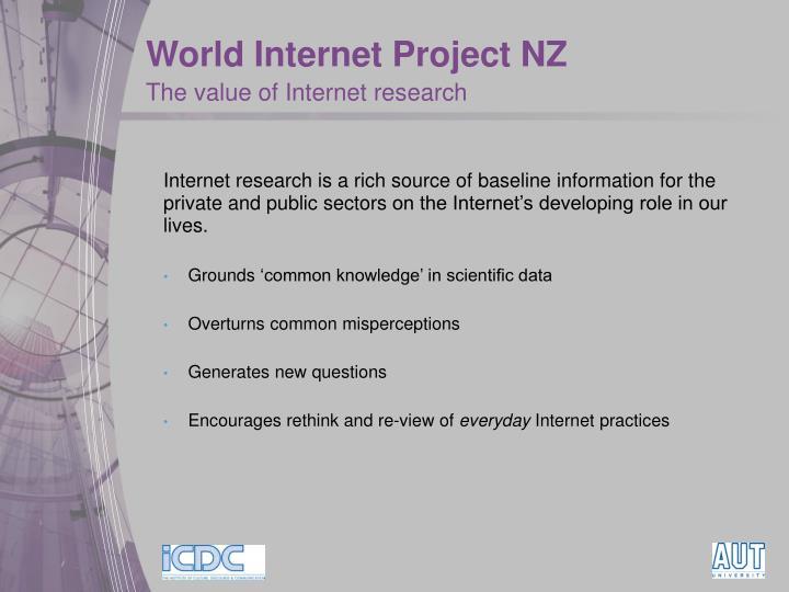 World Internet Project NZ