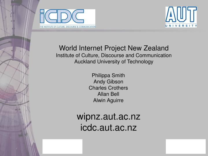 World Internet Project New Zealand