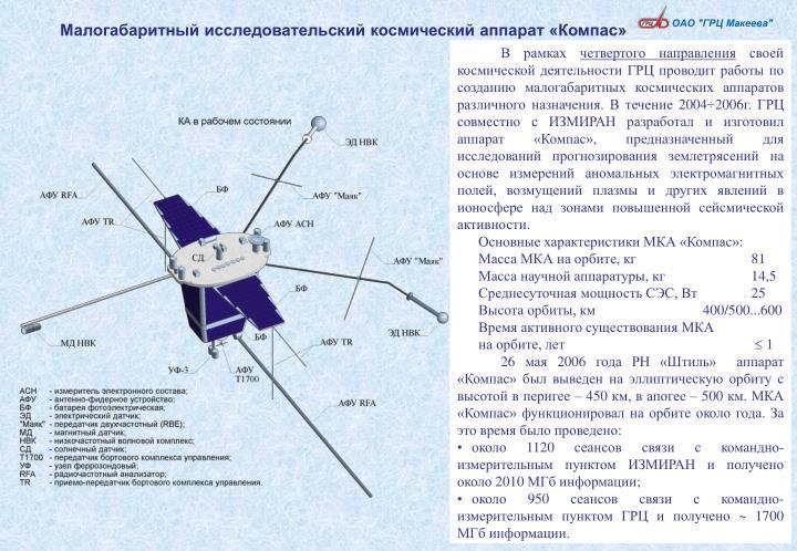 Малогабаритный исследовательский космический аппарат «Компас»