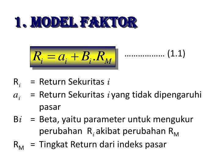 MODEL FAKTOR