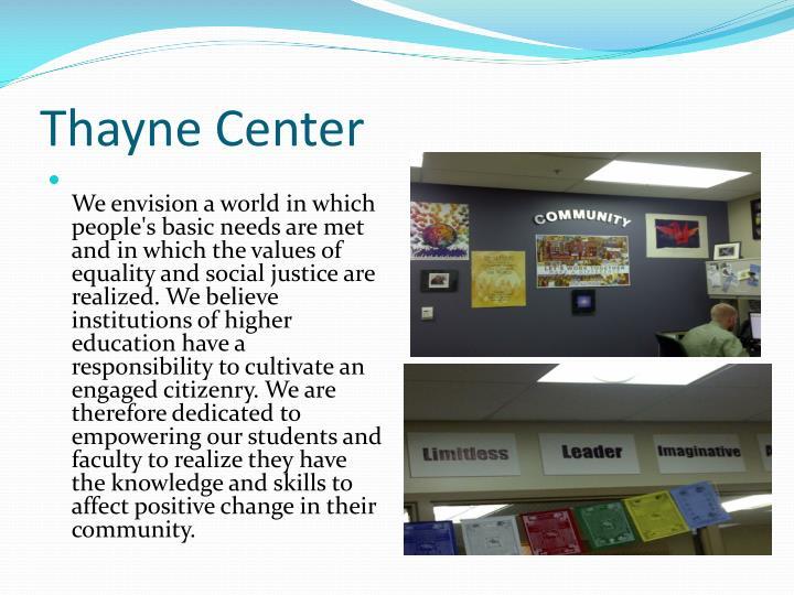 Thayne Center