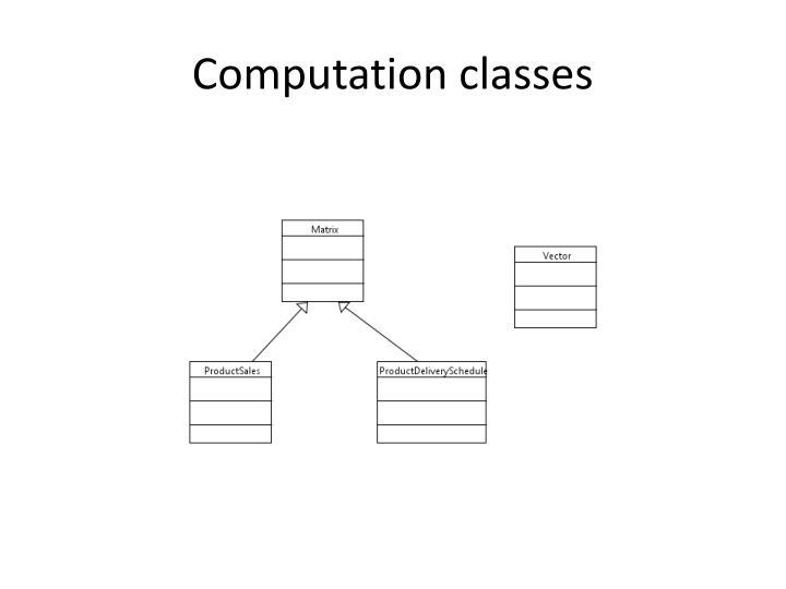 Computation classes