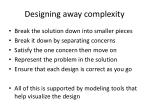 designing away complexity