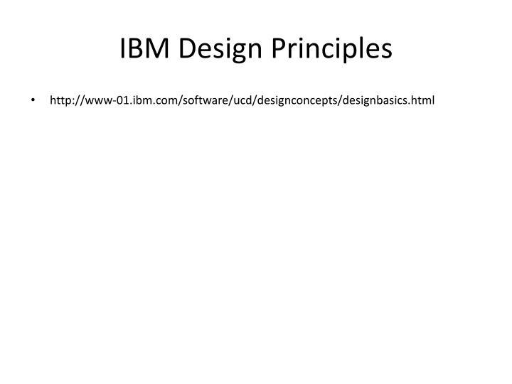 IBM Design Principles