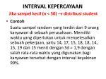 interval kepercayaan jika sampel kecil n 30 distribusi student1