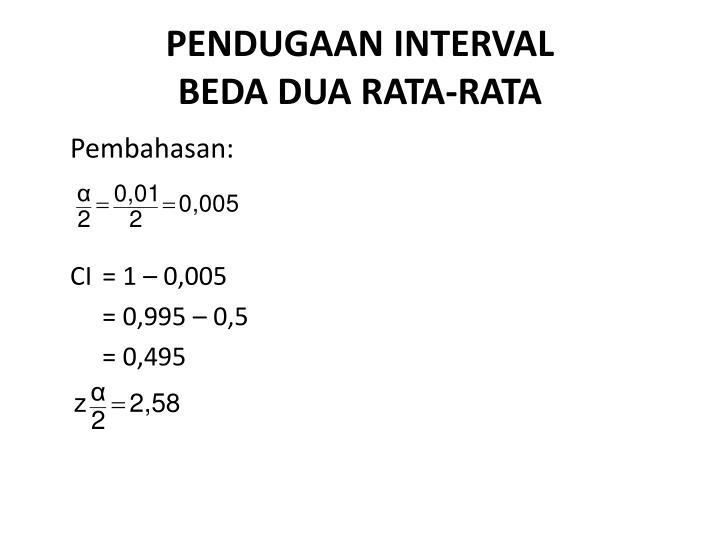 PENDUGAAN INTERVAL