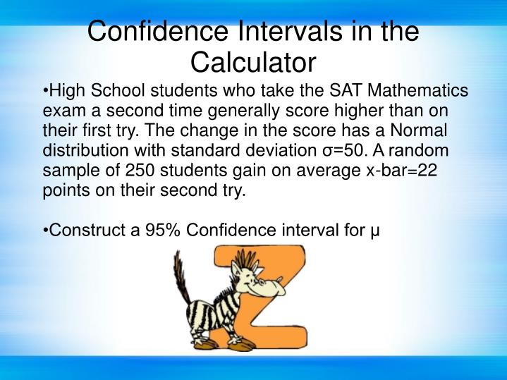 Confidence Intervals in the Calculator