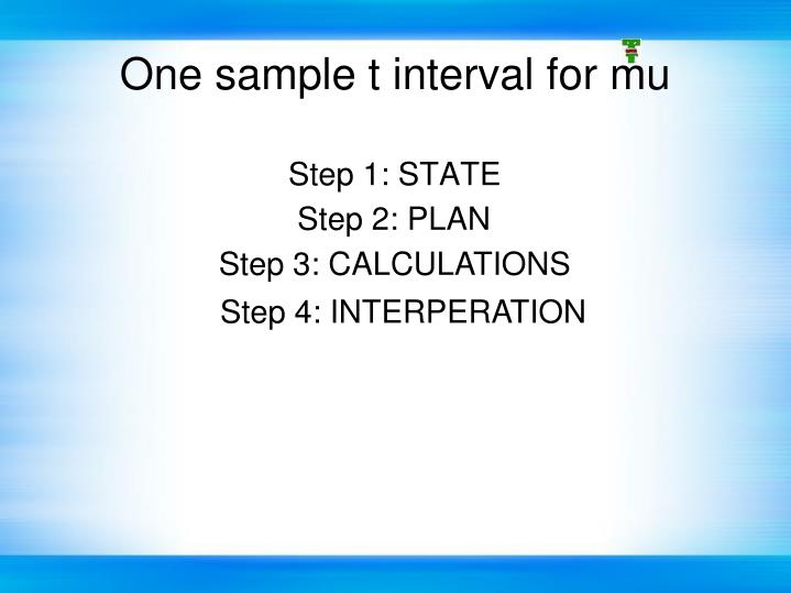 Step 1: STATE