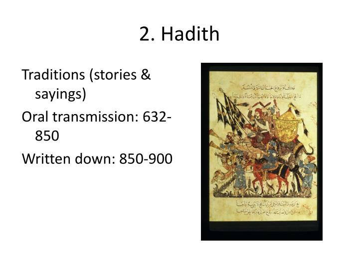 2. Hadith