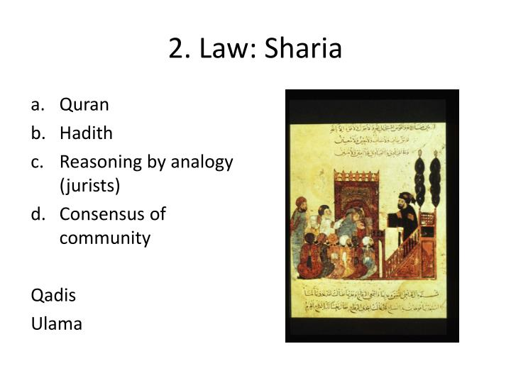 2. Law: Sharia