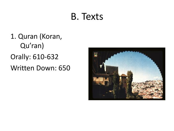 B. Texts
