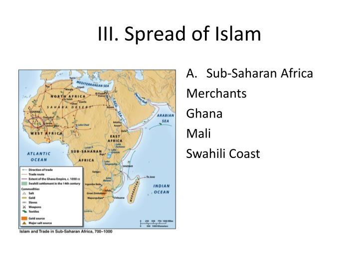 III. Spread of Islam