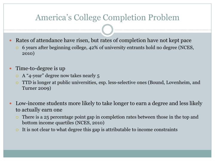 America s college completion problem