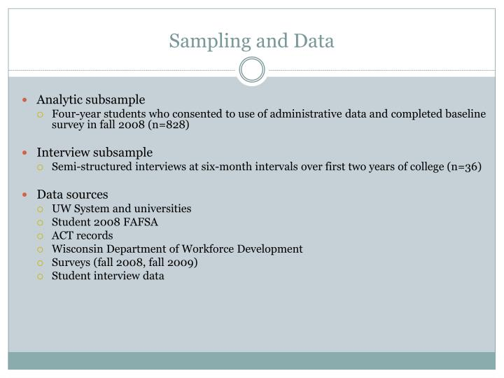 Sampling and Data