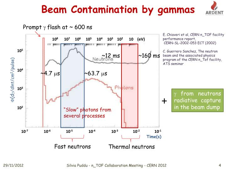 Beam Contamination by gammas