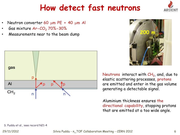 How detect fast neutrons