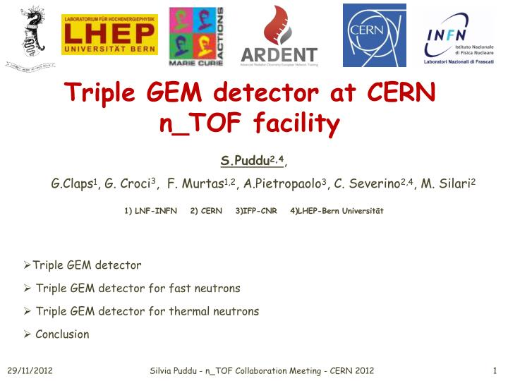 T riple gem detector at cern n tof facility
