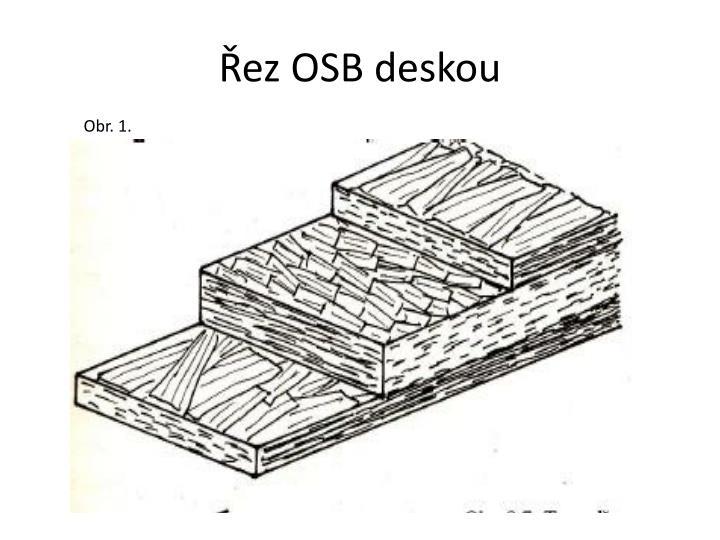 Řez OSB deskou