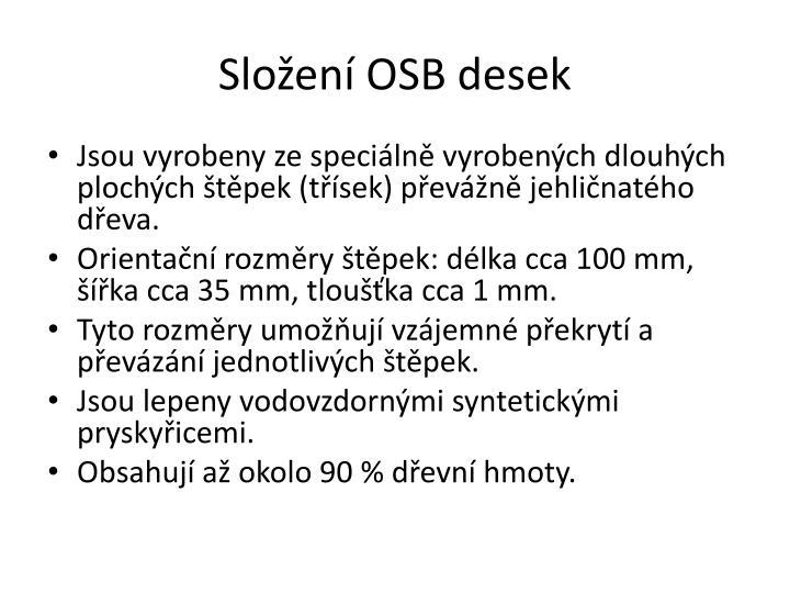Složení OSB desek