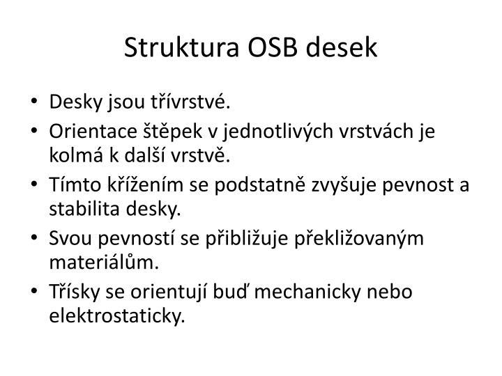 Struktura OSB desek