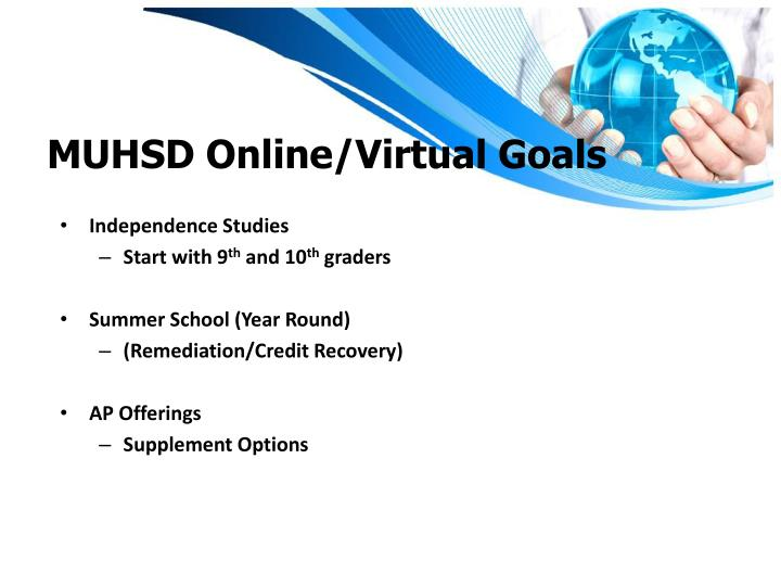 MUHSD Online/Virtual Goals