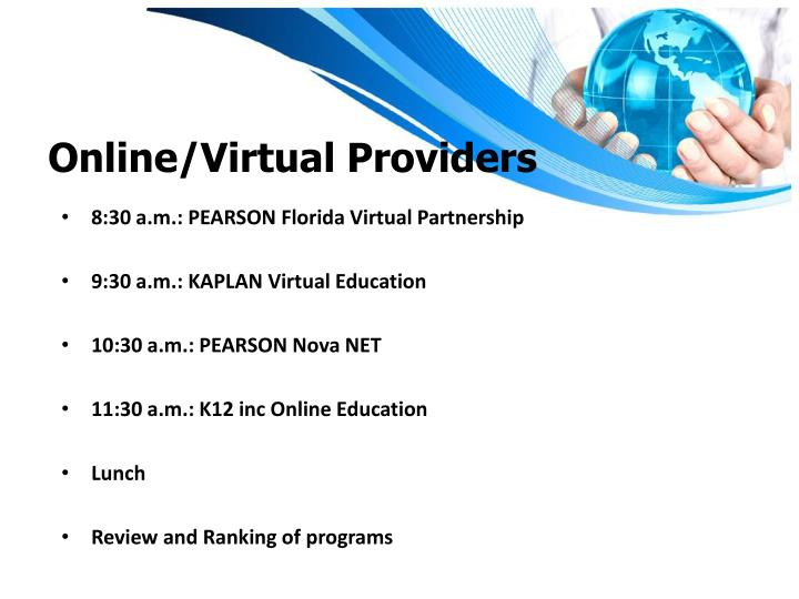 Online/Virtual Providers