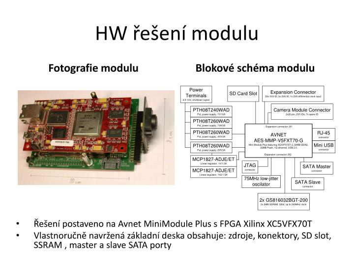 HW řešení modulu