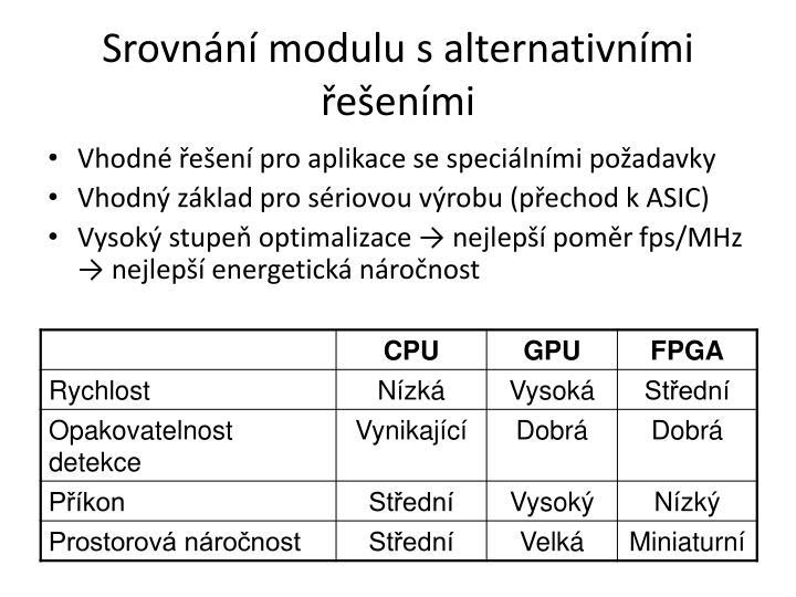 Srovnání modulu s