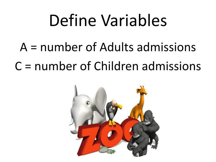 Define variables