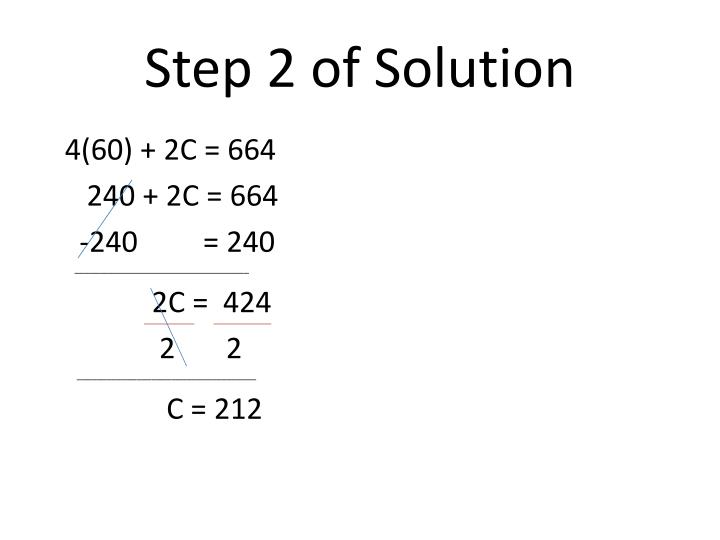Step 2 of Solution