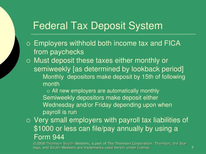 Federal Tax Deposit System