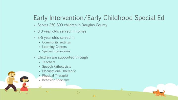 Early Intervention/Early Childhood Special Ed