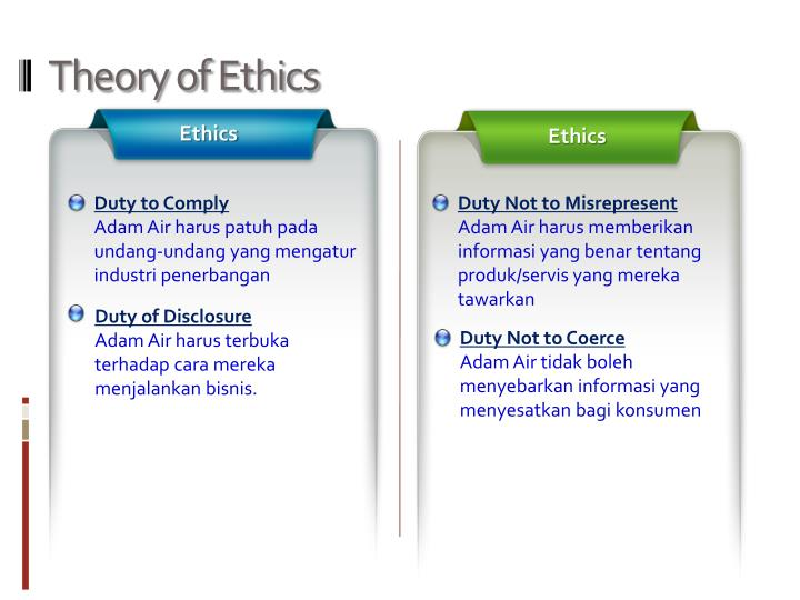 Theory of Ethics