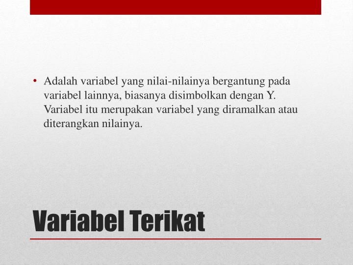 Variabel terikat
