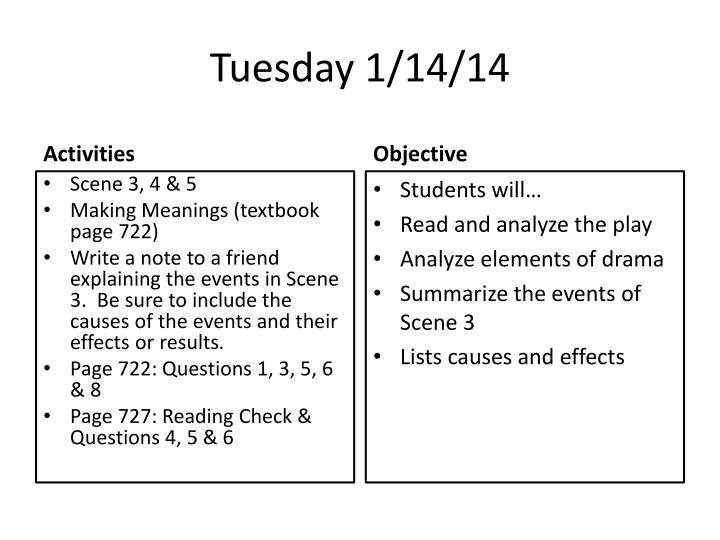 Tuesday 1/14/14