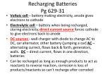 recharging batteries pg 629 31