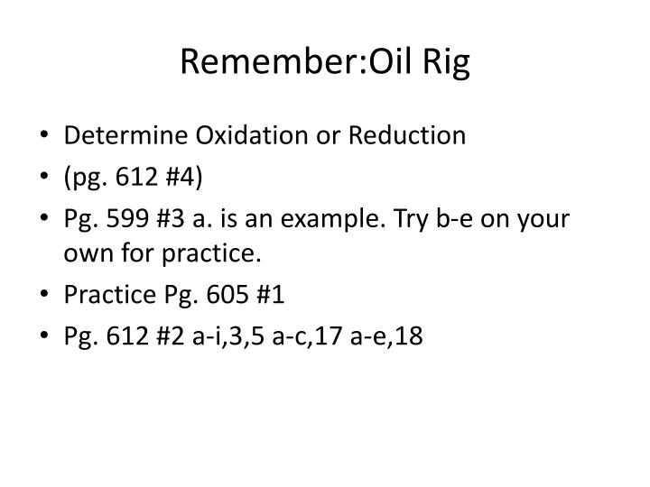 Remember oil rig