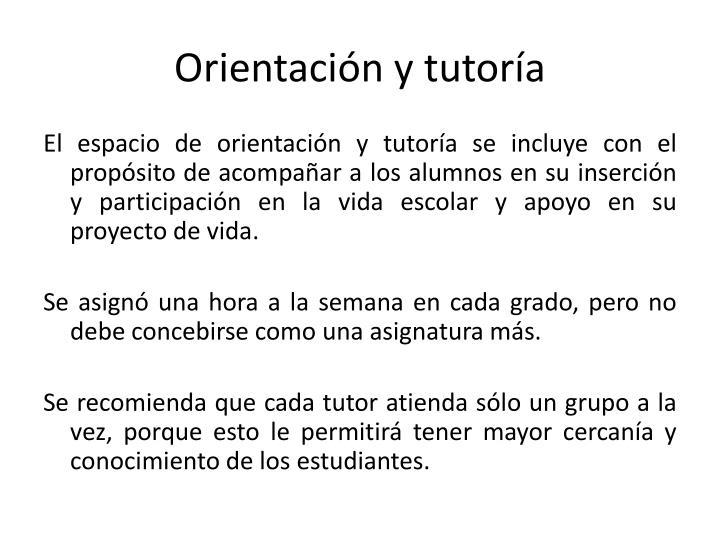 Orientación y tutoría