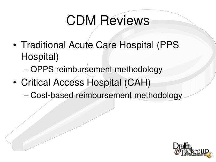 Cdm reviews