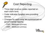 cost reporting