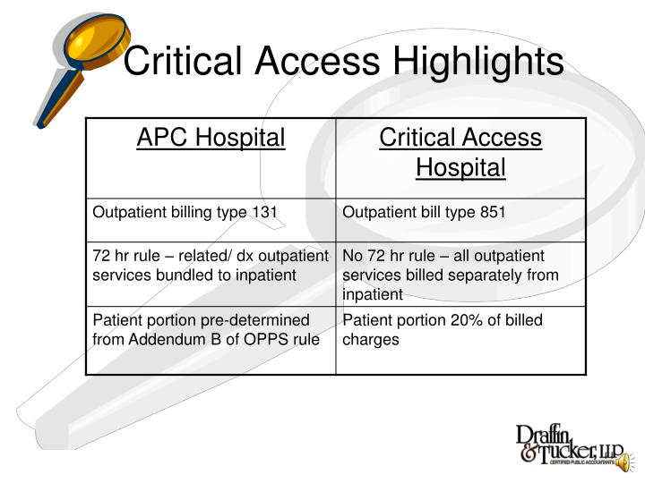 Critical Access Highlights