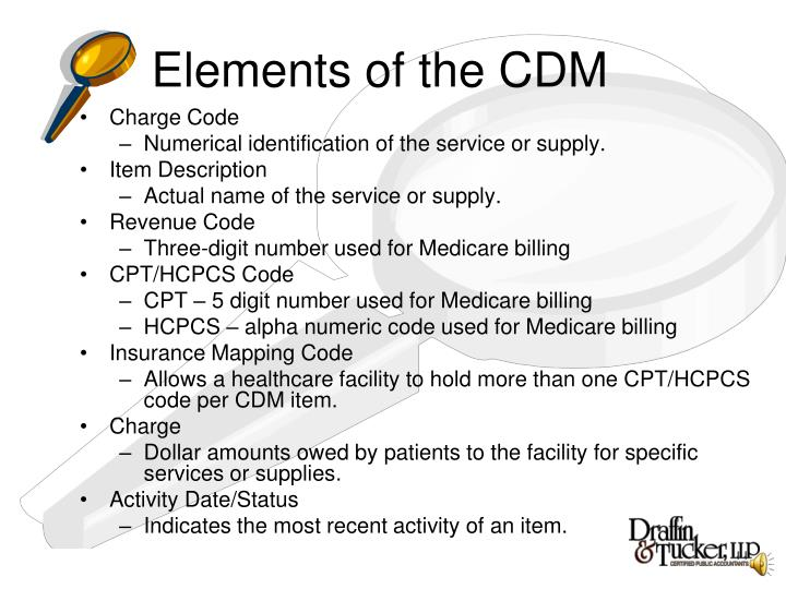 Elements of the CDM