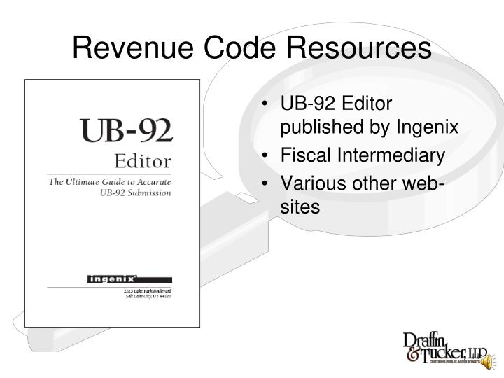 Revenue Code Resources