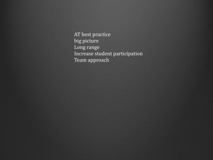 AT best practice